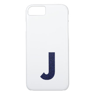 Monogram Capital J with Faux Glitter iPhone 8/7 Case