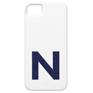 Monogram Capital N with Faux Glitter iPhone SE/5/5s Case