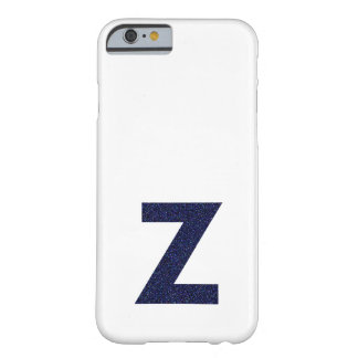 Monogram Capital Z with Faux Glitter Barely There iPhone 6 Case