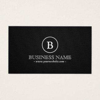 Monogram Carbon Fiber Professional Dark Business Card