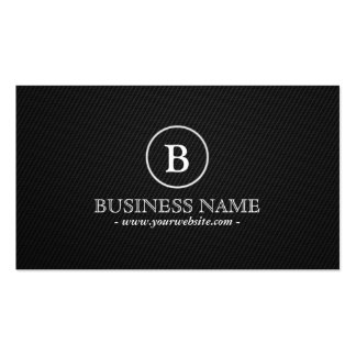 Monogram Carbon Fiber Professional Dark Double-Sided Standard Business Cards (Pack Of 100)