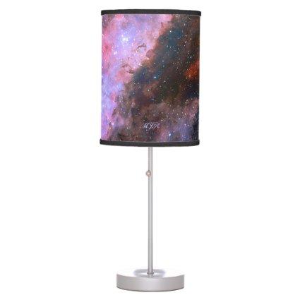 Monogram Carina Nebula, deep space astronomy Desk Lamps