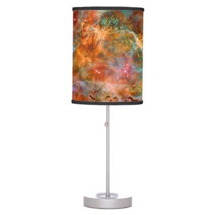 Monogram Carina Nebula in Argo Navis space images Desk Lamp