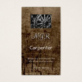 Monogram, Carpenter Business, leather-effect Business Card