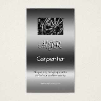 Monogram, Carpenter Business, metallic-effect Business Card