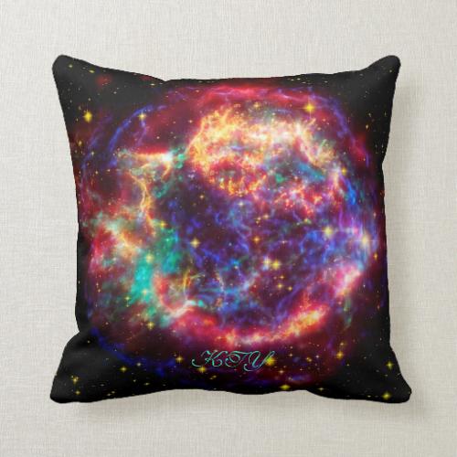 Monogram Cassiopeia, Milky Ways Youngest Supernova Throw Pillow