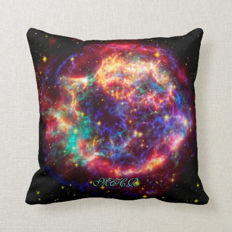Monogram Cassiopeia, Milky Ways Youngest Supernova Throw Pillow