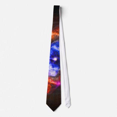 Monogram Cats Eye Nebula Neck Tie