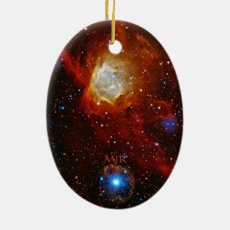 Monogram Celestial Bauble - SXP1062 space picture Ceramic Ornament