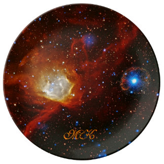Monogram Celestial Bauble - SXP1062 space picture Dinner Plate
