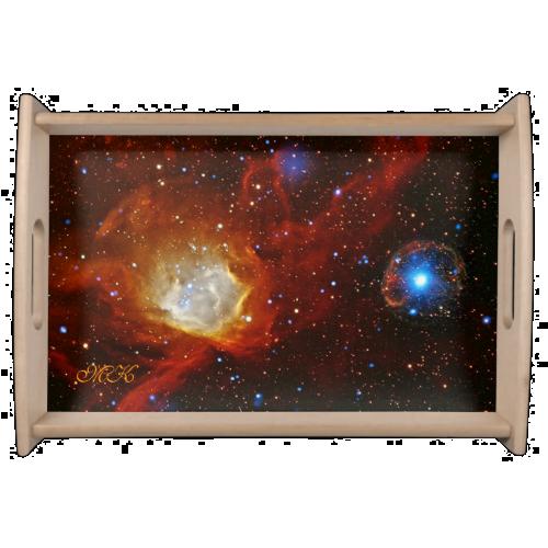 Monogram Celestial Bauble - SXP1062 space picture Service Tray