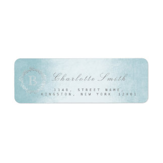 Monogram Celestial Return Address Labels