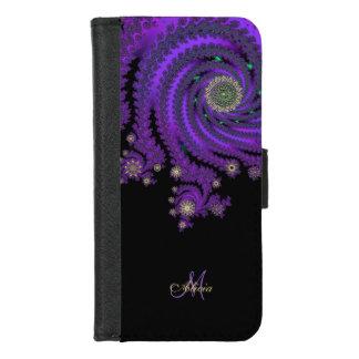 Monogram Celtic Fractal Galaxy Wallet Case