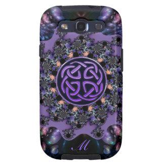 Monogram Celtic Fractal Mandala Samsung S3 Case Galaxy S3 Cases