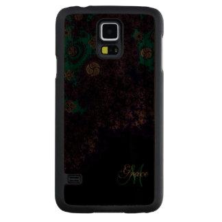 Monogram Celtic Fractal Samsung Galaxy Case Carved® Walnut Galaxy S5 Slim Case