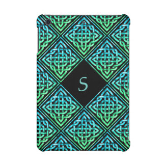 Monogram Celtic Knot Blue Green iPad Mini 2 Case iPad Mini Retina Cover