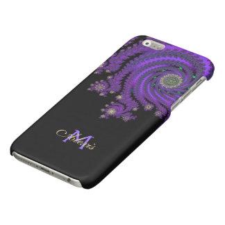 Monogram Celtic Purple Fractal iPhone 6 Case Glossy iPhone 6 Case