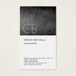 Monogram Chalkboard Gray Attractive Business Card