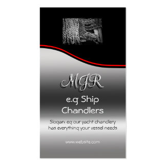Monogram, Chandlers Anchor Chain, red swoosh Business Card