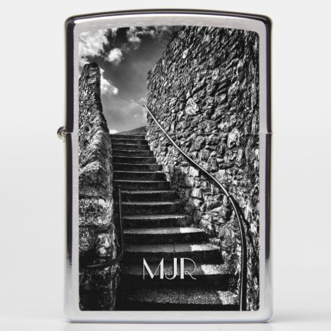 Monogram (change) on Barbican Steps Zippo Lighter