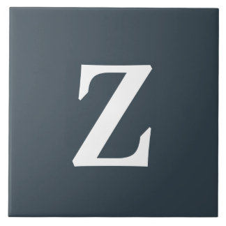 Monogram Charcoal Stylish Color Complementing Tile