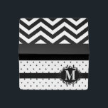 """Monogram Checkbook Cover<br><div class=""""desc"""">Monogram, Chevron and Polka Dots Bid farewell to the days of boring checkbooks! These handmade custom checkbook covers by 11:11 are a practical and sturdy case used to protect you and shield your identity in public. Dimensions: 6.375"""" x 4.375"""". Fits regular size, personal checks. Slim 2 pocket design. Used for...</div>"""