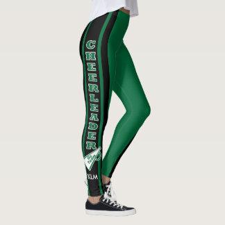 Monogram Cheerleader Dark Green Leggings