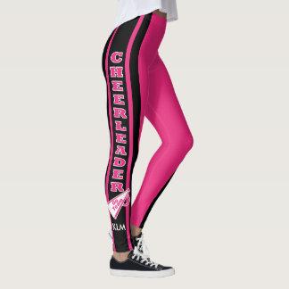 Monogram Cheerleader Hot Pink Leggings