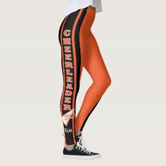 Monogram Cheerleader Orange Leggings