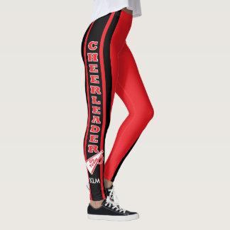 Monogram Cheerleader Red Leggings