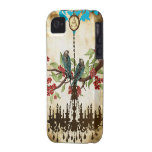 Monogram Cherry Blossom  Bird Chandelier iPhone Case-Mate iPhone 4 Cases