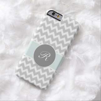 Monogram Chevron Fancy Script Design Barely There iPhone 6 Case