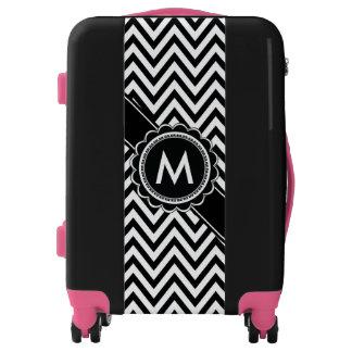Monogram Chevron Fashion Chic Luggage