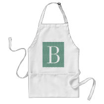 Monogram chevron pattern aprons for men and women