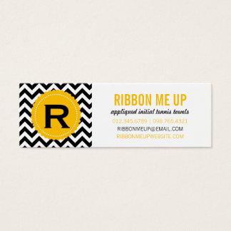 Monogram Chevron Pattern Business Cards