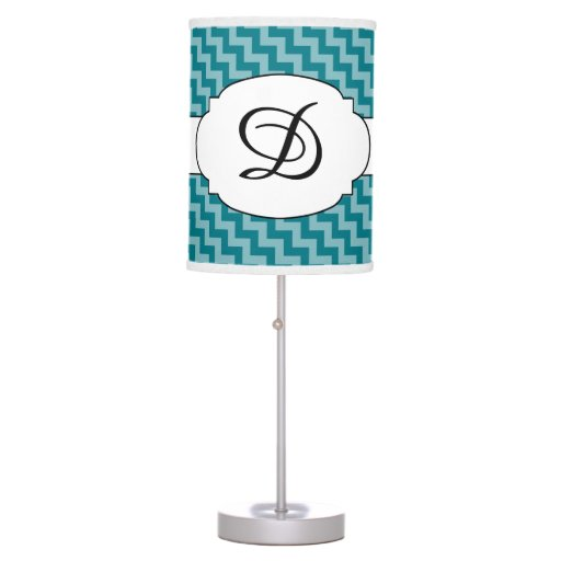 Monogram Chevron Pattern Print Lamp Any color!