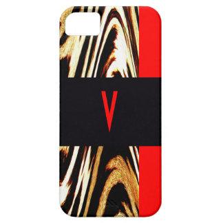 Monogram Chevron Stripes Wedding Letter Zigzag iPhone SE/5/5s Case