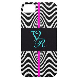 Monogram Chevron Wedding Zigzag Retro Pink Letter iPhone SE/5/5s Case