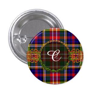 Monogram Christie Tartan Pin