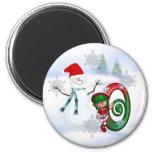 Monogram Christmas Magnet O