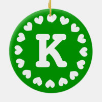 Monogram Christmas ornament with name initials