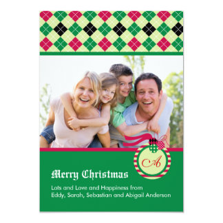 Monogram Christmas Photo Card