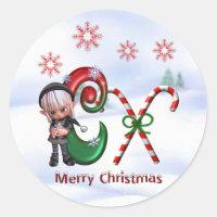 Monogram Christmas Sticker C