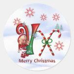Monogram Christmas Sticker V