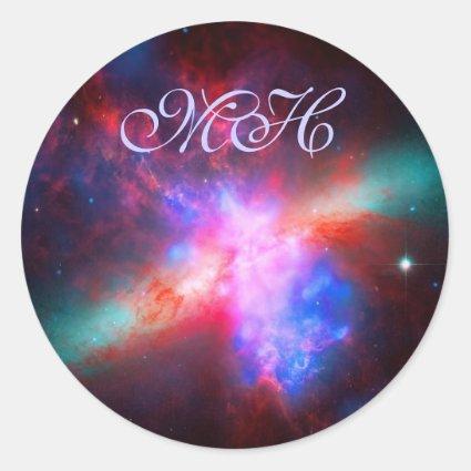 Monogram - Cigar Galaxy - Messier 82 Classic Round Sticker