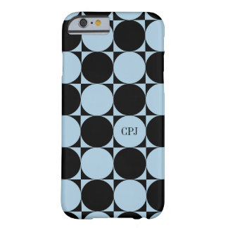 Monogram Circle Square Chessboard Custom Color Barely There iPhone 6 Case
