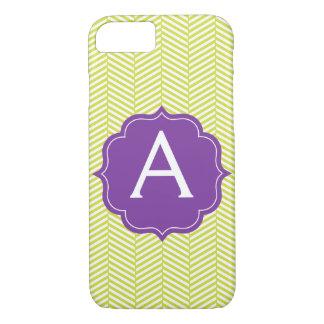 Monogram Citron Chevron with Purple iPhone 8/7 Case