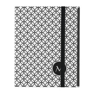 Monogram | Classic Abstract Moroccan Pattern iPad Folio Cases