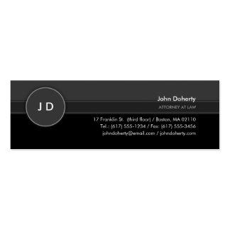 Monogram   Classic Attorney at Law Mini Business Card