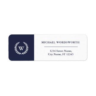 Monogram Classic Elegant Business Address Labels